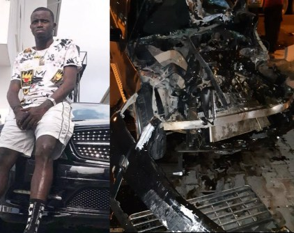 Davido's former PA, Idris Aloma, survives ghastly accident