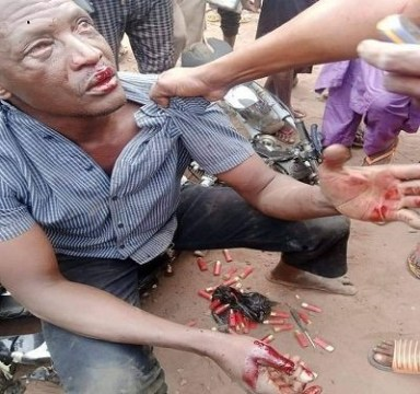 Photo Of A Motorcyclist Apprehended With Ammunition In Delta