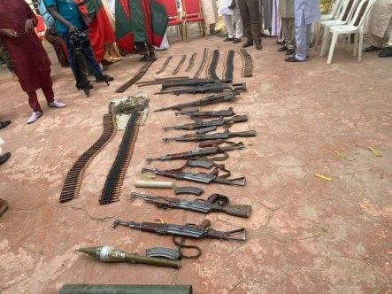 Repentant Bandits Surrender Their Weapons In Zamfara