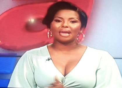 See Photos As Supersport Female Presenter Reveals Huge Cleavage On Live TV