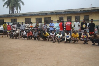 EFCC Arrest 24 Suspected Internet Fraudsters In Ogun