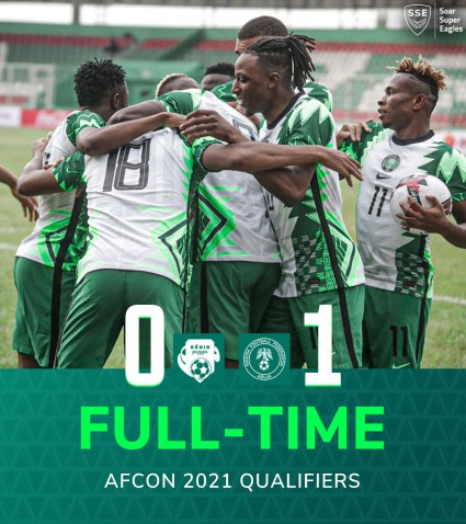 Paul Onuachu's Goal Helps Super Eagles Defeat Benin 0-1 As Nigeria Seal AFCON Qualification