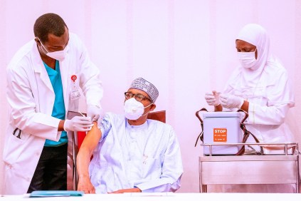 President Buhari And VP Osinbajo Receive COVID-19 Vaccine Jabs