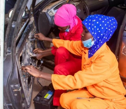 See Photos As First All-Female Mechanic Shop Opens In Sokoto