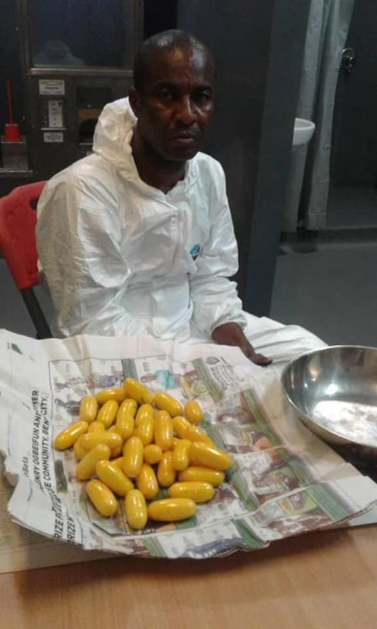 2 Drug Traffickers Excrete 191 Pellets Of Cocaine, Heroin At Lagos Airport