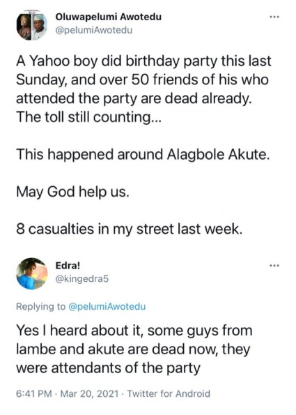 20 People Reportedly Dead After 'Eating Meat' Served By Suspected Yahoo Boy