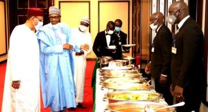 Buhari Hosts Niger Republic's Bazoum To Iftar Dinner