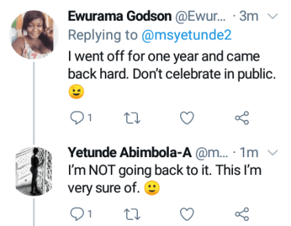 Nigerian Lady Marks 7 Months Since She Stopped Masturbating
