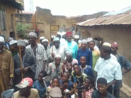 See Photos As Beggars Protest Low Patronage In Oyo State