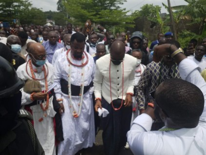 See Photos As Olu Of Warri's Successor Is Revealed As Palace Chiefs Announce His Death
