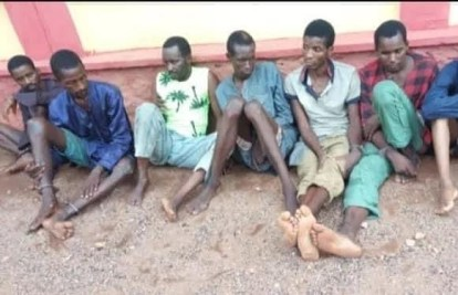 See Photos As Police Parade Kidnappers Of Ogun Monarch, OOU Students