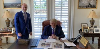 See Photos As Trump Is Spotted Hiding 'Coke' Bottle On His Office Desk Despite Telling His Supporters To Boycott The Drink