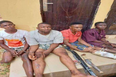 See Photo As Police Arrest Four-Man Robbery Gang Terrorizing Edo Communities