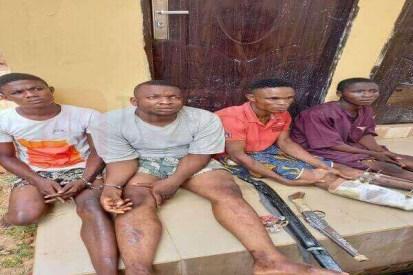 See Photo As Police Arrest Four-Man Robbery Gang Terrorizing Edo Communities