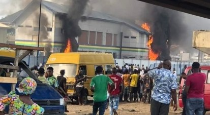 Another Police Station Set Ablaze By Hoodlums In Imo