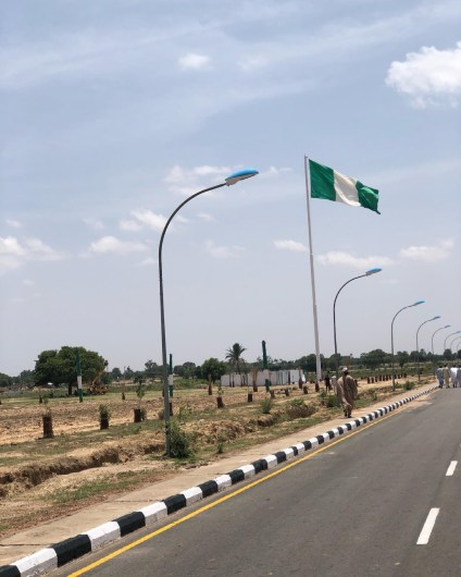 Lai Mohammed, Inspects Tallest Nigerian Flag Pole Erected In Jigawa
