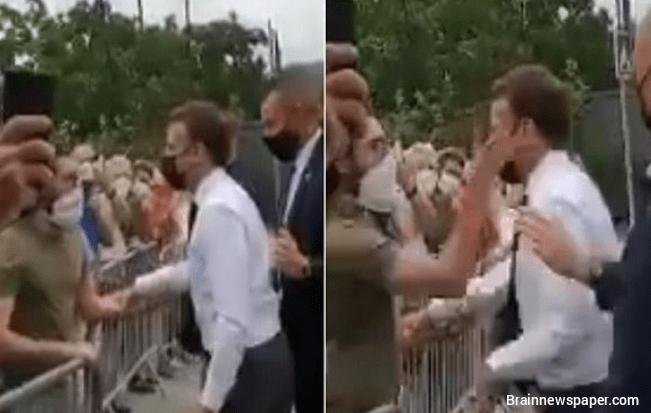 Man Slaps France President macron