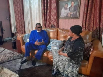 Prophet Abiara Pays Condolence Visit To Late TB Joshua's Widow