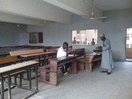 See Photo As Bida Poly Lecturer Is Spotted Teaching Only One Student Who Attended His Class