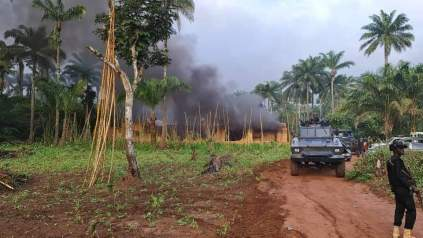 See Photos As Police Kill Several IPOB ESN Members, Overrun Three Camps In Imo