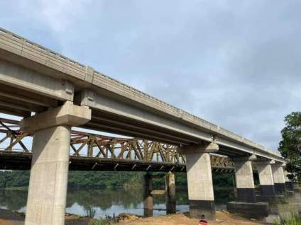 See Photos As Second Ikom Bridge In Cross River State Is Completed