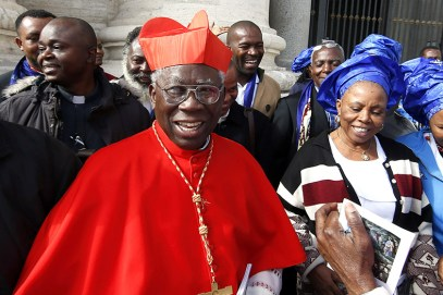 Watch Video As IPOB Members Approach Cardinal Arinze In Rome And Ask Him To Talk To Pope To Endorse Actualization Of Biafra