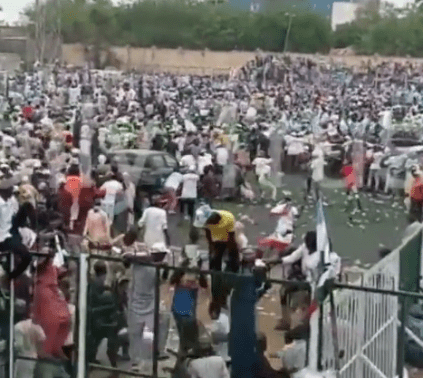 Watch Video As Violence Erupts At APC Mega Rally In Kano