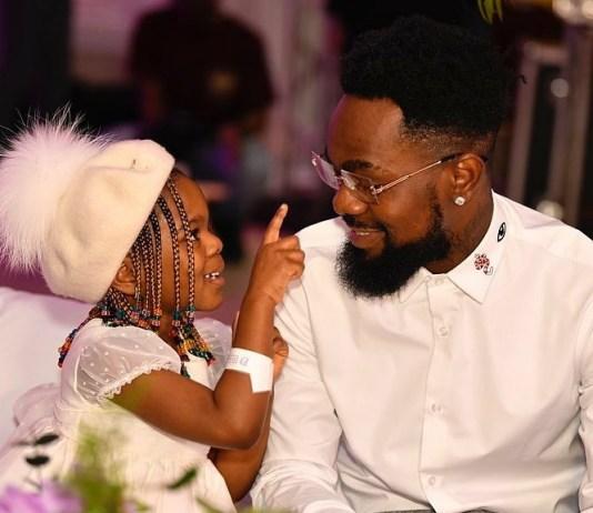 Beautiful Photos Of Nigerian Singer, Patoranking And His Daughter, Wilmer