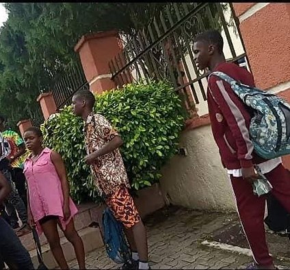 See Photos As Secondary School Students Are Caught Swimming In Hotel During School Hours In Calabar