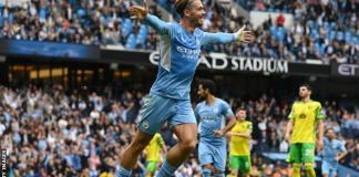 Jack Grealish Scores First City Goal, As Manchester City Thrash Norwich With 5 Goals
