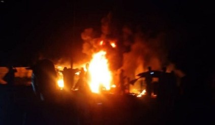 How Shops, Cars Were Razed As Fire Engulfed Roadside Petrol Shop In Abia