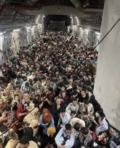 Inside A US Military Aircraft Evacuating Afghans From Kabul To Qatar
