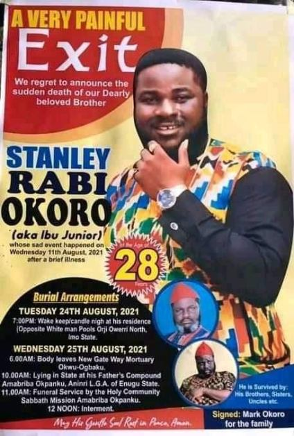 See Burial Date And Poster Of Nollywood Actor, Stanley Okoro