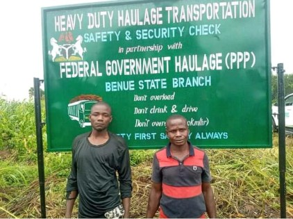2 Arrested For Operating Illegal Revenue Point In Benue