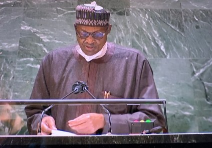 Full Text Of President Buhari's Speech At 76th United Nations General Assembly
