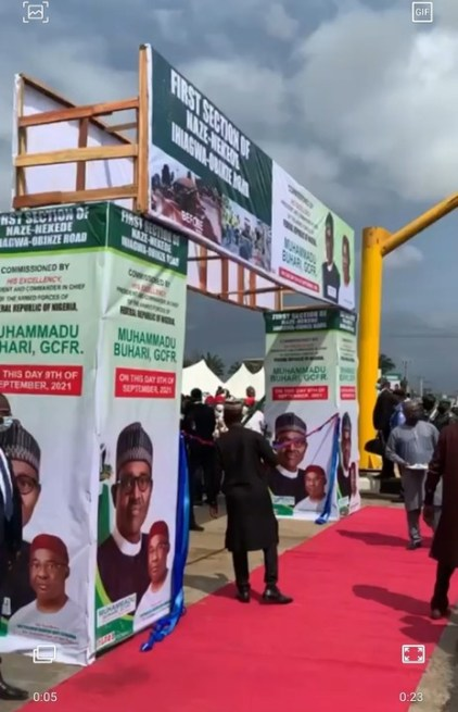 President Buhari Commissions Road Projects In Imo State