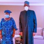 President Buhari Meets Okonjo-Iweala In United States
