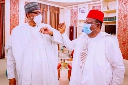 President Buhari Receives Gov Umahi In Abuja