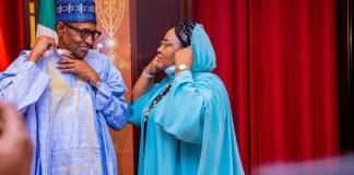Lovely Photos Of President Buhari And His Wife Aisha