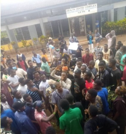 OAU Shut Down Till Further Notice Following Protest That Broke Out Over Student's Death