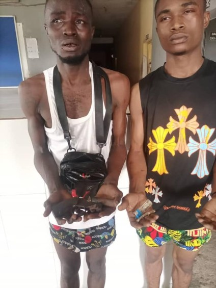 See Photo As Police Arrest 2 Suspects, Recover Wraps Of Indian Hemp, Gun In Delta State