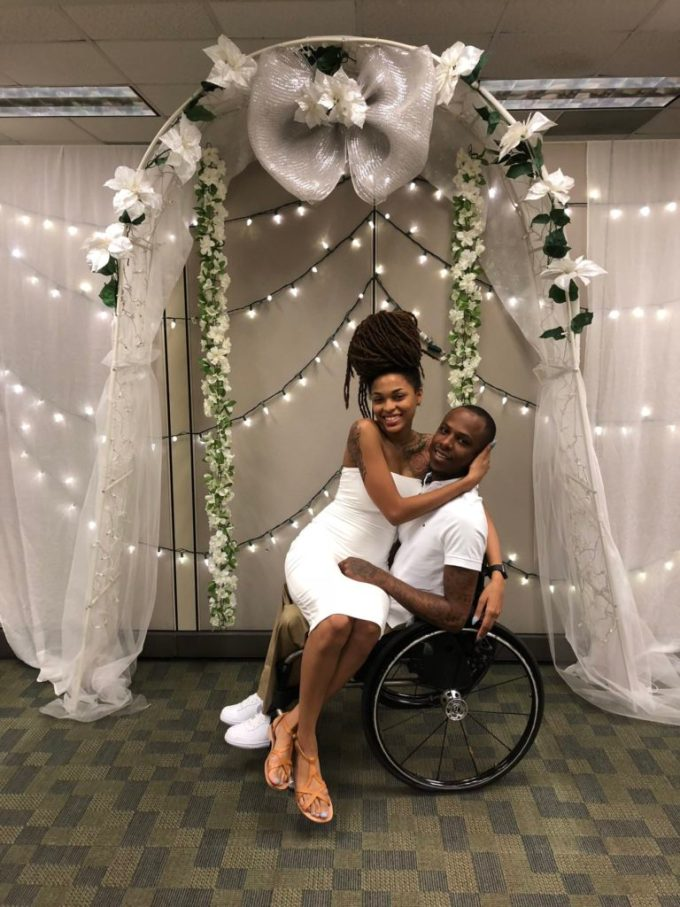 Pretty Lady Weds Her Physically-challenged Boyfriend In Style