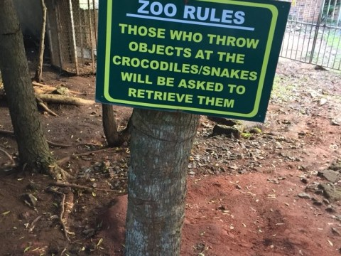 Warning Sign Spotted At A Zoo In Abeokuta