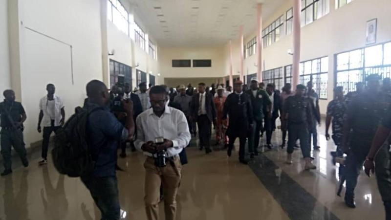 Akwa Ibom Governor, Udom Storm House Of Assembly To Stop His Impeachment