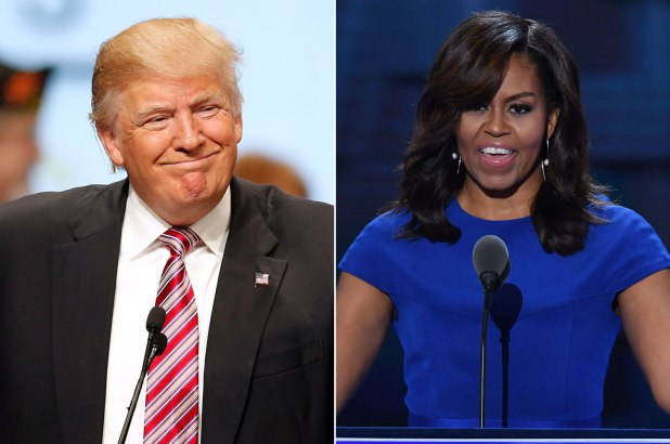 Donald Trump And Michelle Obama