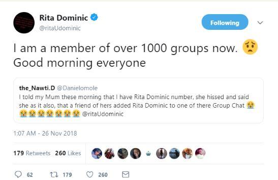 Hacker Leaked Actress, Rita Dominic's Phone Number Online