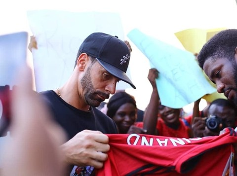 Rio Ferdinand Arrives Lagos, To Search For Young Talents