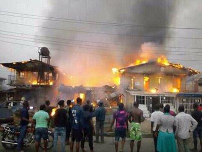 Fire Razes Houses In Delta Community