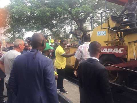 Gov. Ben Ayade Of Cross River Inspecting Ongoing Road Maintenance In Calabar