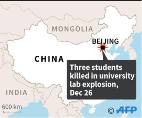 Lab Explosion Killed Three China University Students